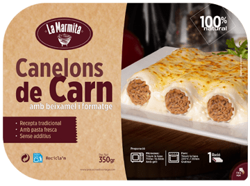 tapas pack la marmita canelones carne zona individual